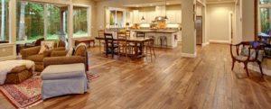 Wooden floor in home