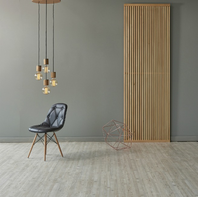 image of room with laminate floor and chair