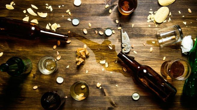 Image of spilt liquid