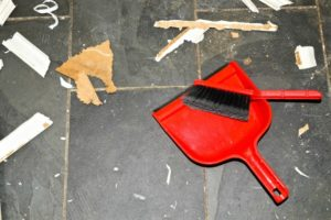 image of sweeping a floor