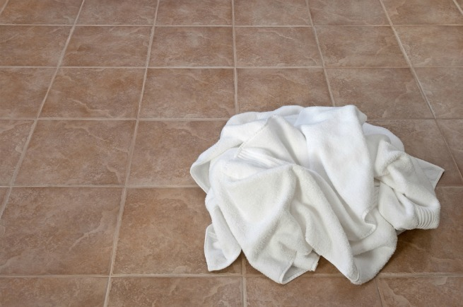 An image of a towel on the floor