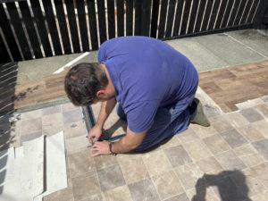 Vinyl Flooring Kitchen Installation - Using Stanley Knife - Step 2