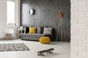 An image of a room with white laminate floors