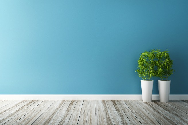 Image showing a cool floor with a cool blue wall