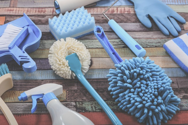 An image of a variety of cleaning products