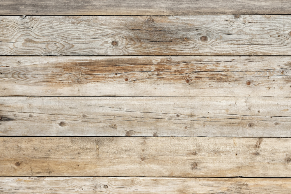 Fading dark wood flooring