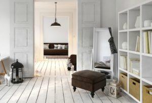 Footstool in bedroom