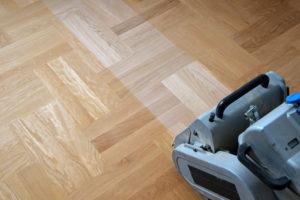 Refinishing floors by sanding