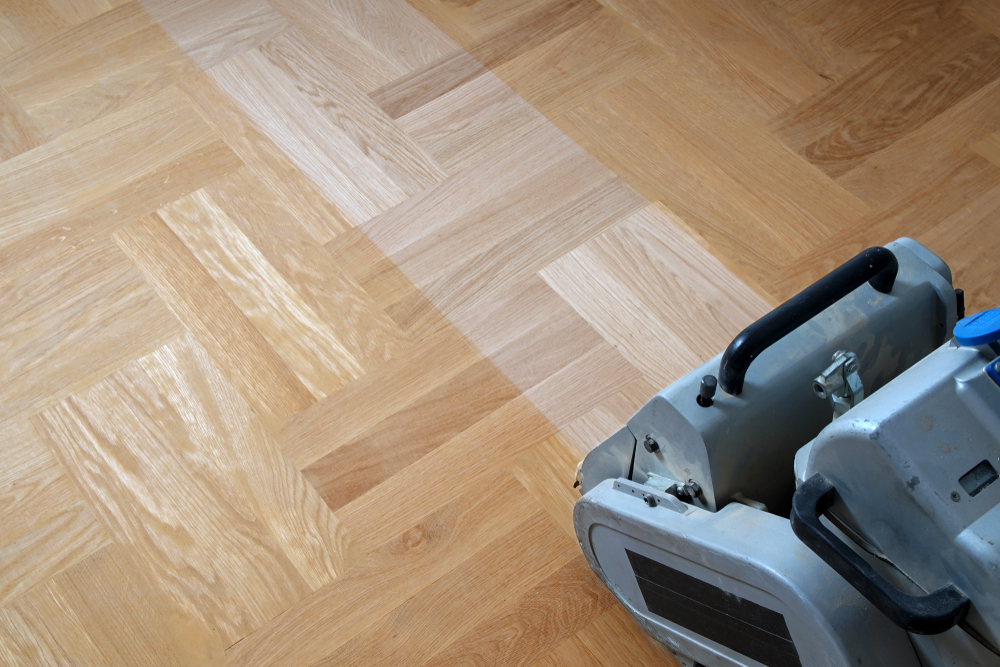 Refinishing floors by sanding