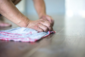 Cleaning and restoring a wooden floor