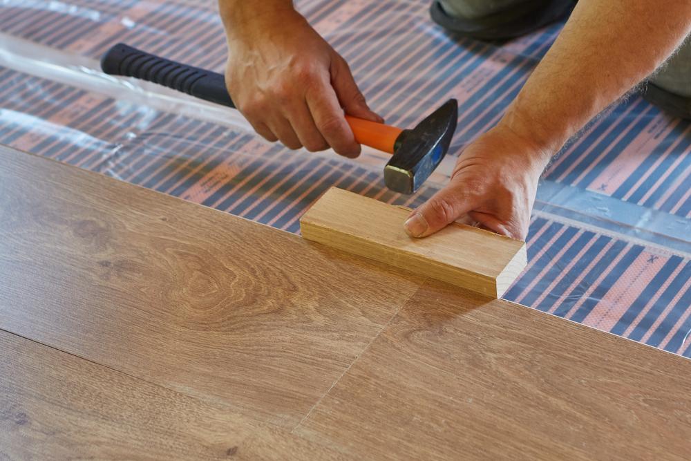 Installing solid wood laminate flooring