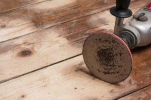 Wooden floor resurfacing