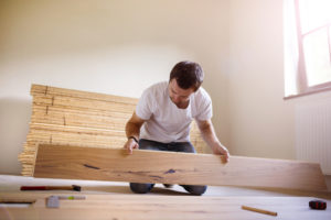 Laying your first row of laminate flooring