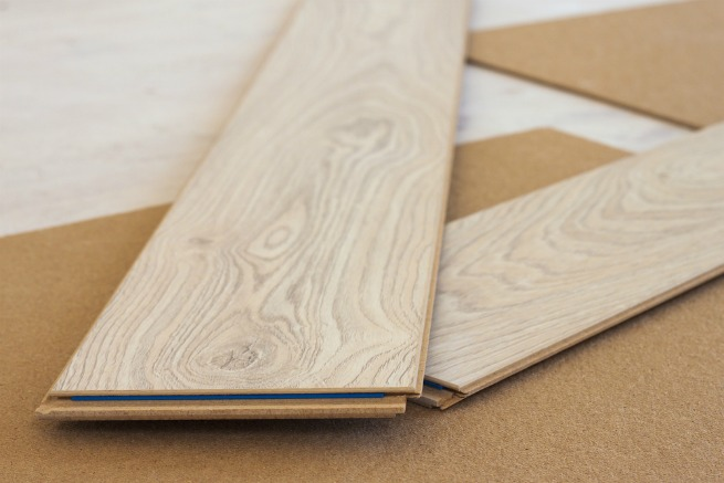 Image of laminate floor boards