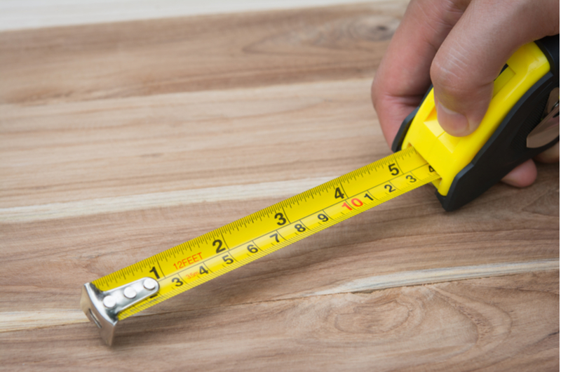 Measuring Wooden Floor
