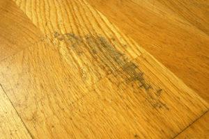 Restoring scuffed wooden flooring