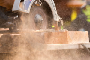Cutting wood for laminate flooring