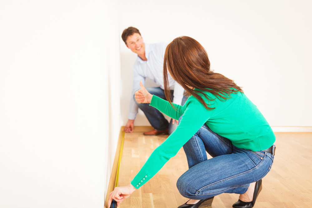 Measuring to install laminate flooring